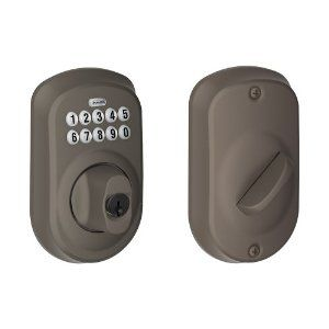 Schlage Be365 Ply 613 Plymouth Keypad Deadbolt Oil Rubbed