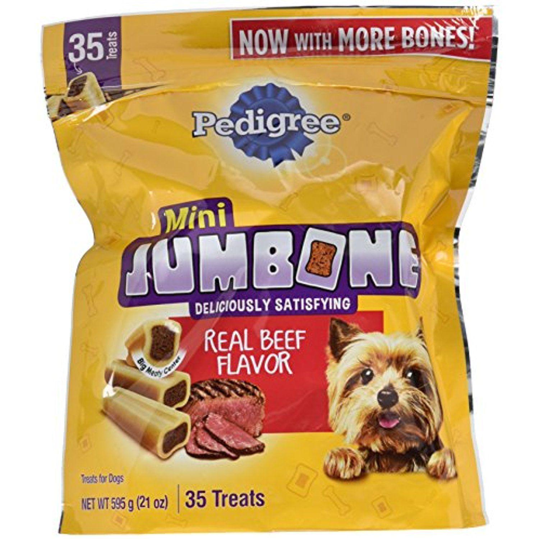 Pedigree Jumbone Real Beef Flavor Mini Dog Treats 35 Treats 21
