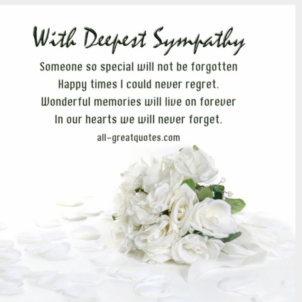 With Deepest Sympathy Condolence Messages Deepest Sympathy