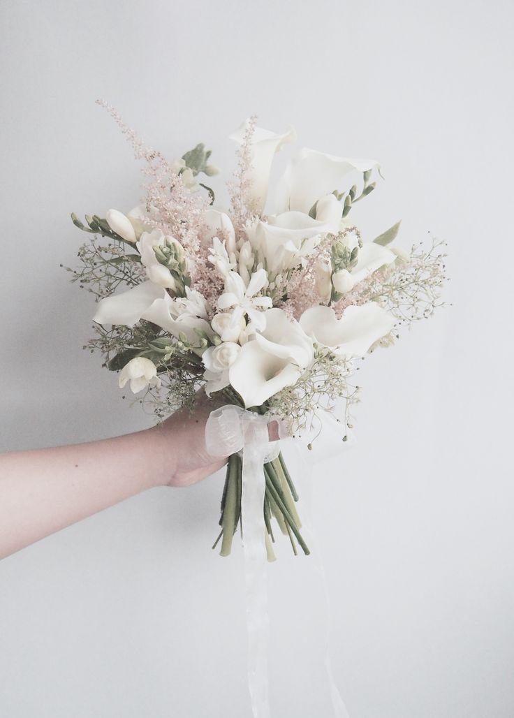 Ohh ♥ ... so einfach und wunderschön. Würden andere Farben noch weiter gehen? - Ideen Blog #bridalflowerbouquets