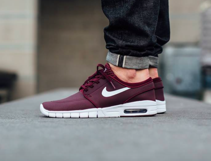 W2C  The Nike SB Stefan Janoski Max in maroon leather  bcde63f4b6
