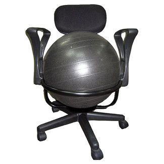 Strong Aeromat Strong Low Back Deluxe Exercise Ball Chair
