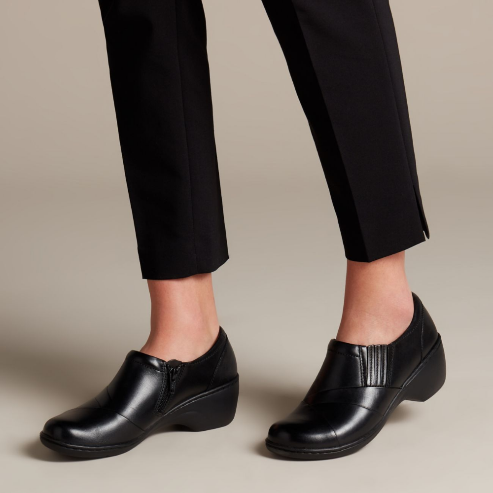 Channing Essa Black Leather - Shoes for