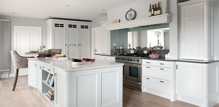cucine bianche classiche-isola-centrale | Abiti | Pinterest | Cucine ...