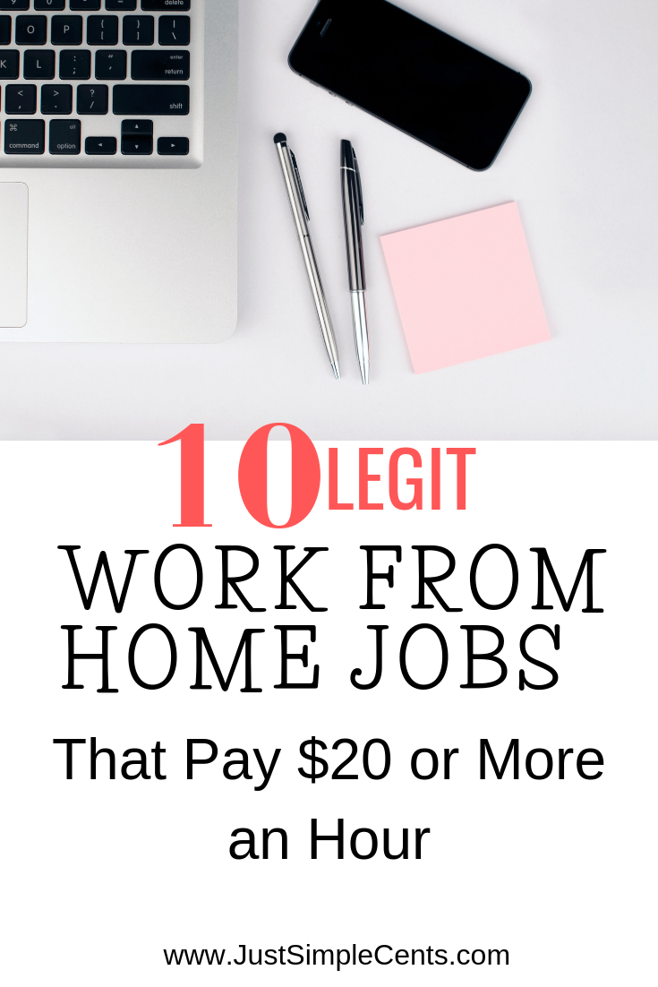10 Legit Work From Home Jobs That Pay 20 Or More An Hour In 2020
