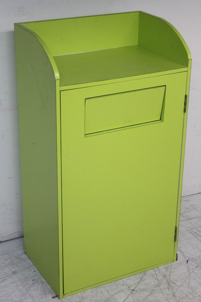 Lime Green Cafeteria Fast Food Restaurant Commercial Tray Stand ...