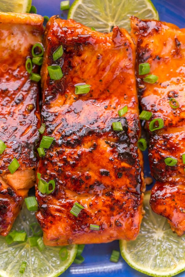 Honey Glazed Salmon Recipe - NatashasKitchen.com