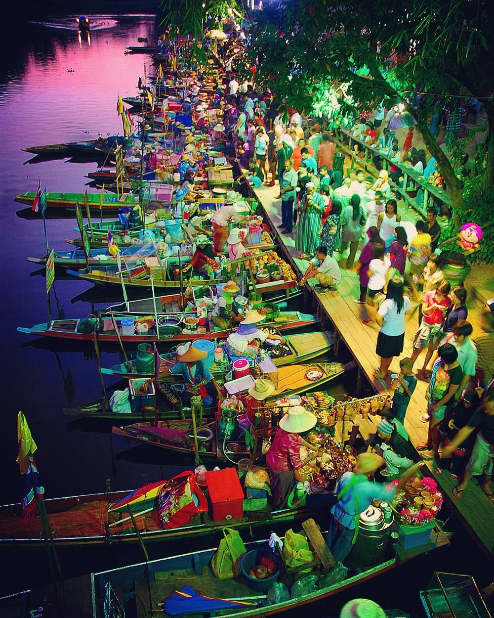A Floating Food Hawker Market In Southern Thailand Probably More Interesting Than The Bangkok Floating Market A Thailand Travel Summer Travel Travel Instagram