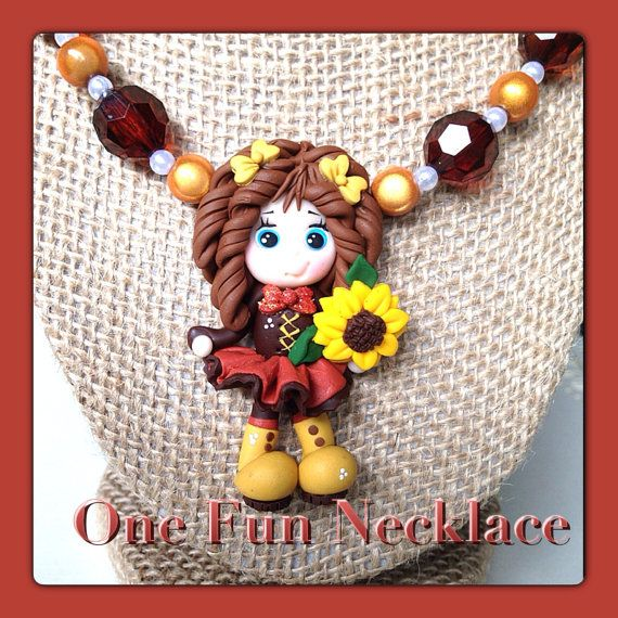 Fall Harvest Autumn Chunky Bead Bubblegum Bead by OneFunNecklace, $26.00