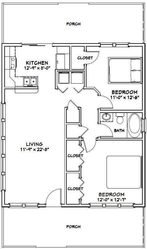 28x32 house 28x32h2n 896 sq ft excellent floor for 28x32 floor plan
