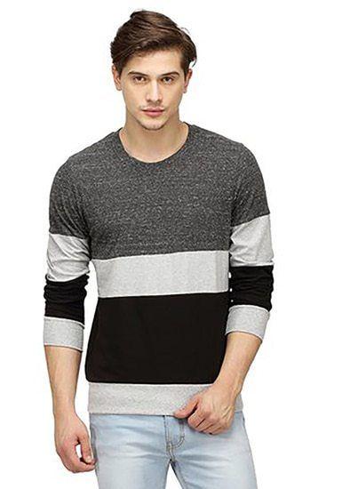 c9e3da70dd Tri Colour Full Sleeve T-Shirt | online Shopping deals India | Shirt ...