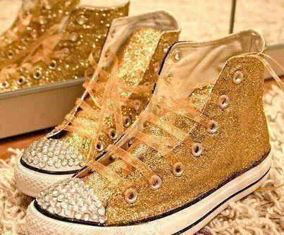 Gold Sparkly Converse