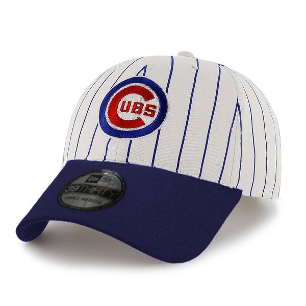 best sneakers official photos save off Chicago Cubs Pinstripe 39Thirty Flex Fit Cap by New Era   Sports ...
