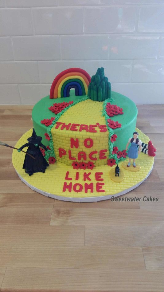 This Wizard Of Oz Birthday Cake Is A Fun Cake Made With Fondant And