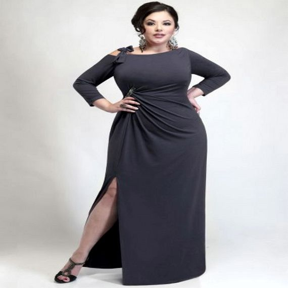 Black tie dresses for plus size women