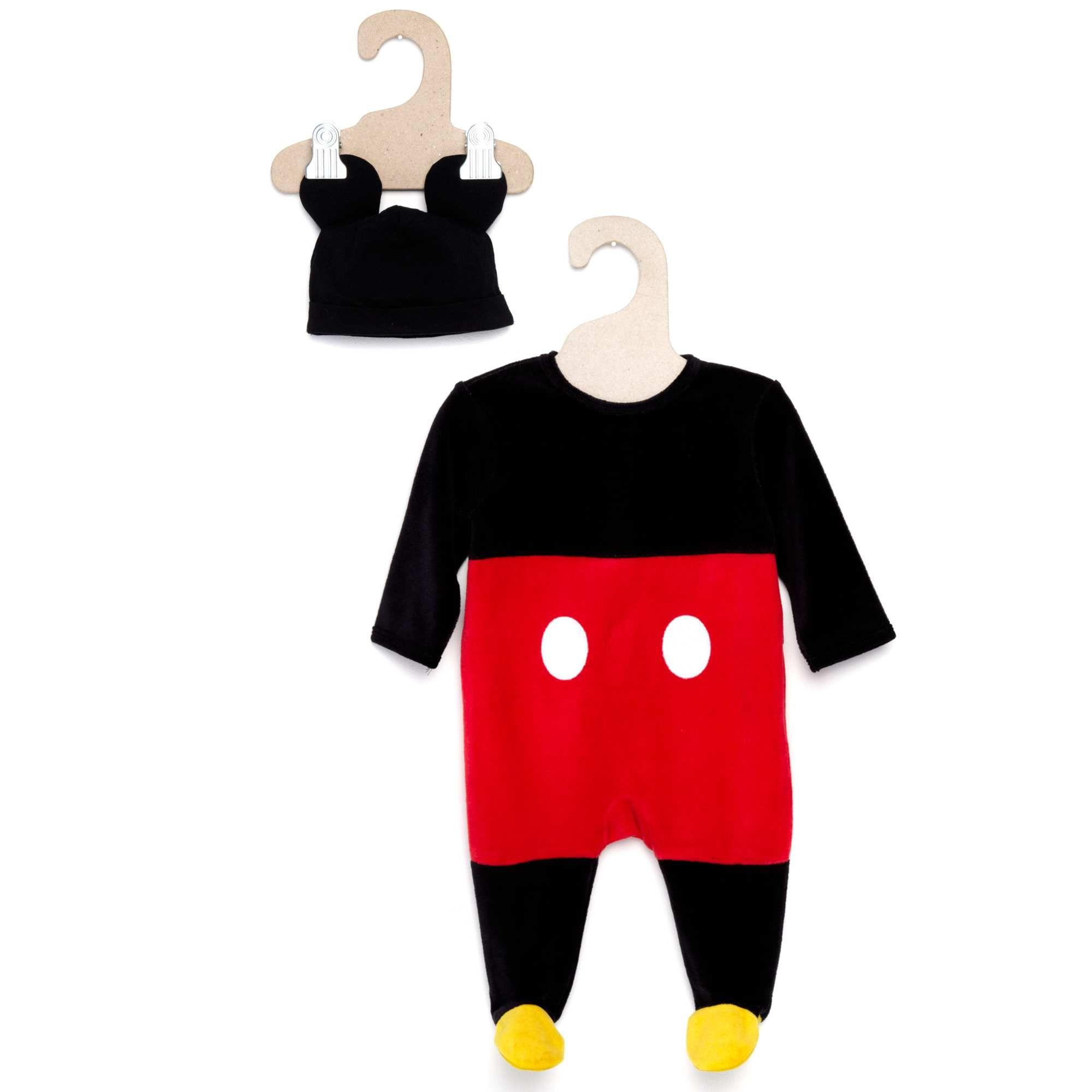 0f3b27a4db5a Dors-bien déguisement  Mickey  en velours + son bonnet Bébé garçon - Kiabi  - 14,99€