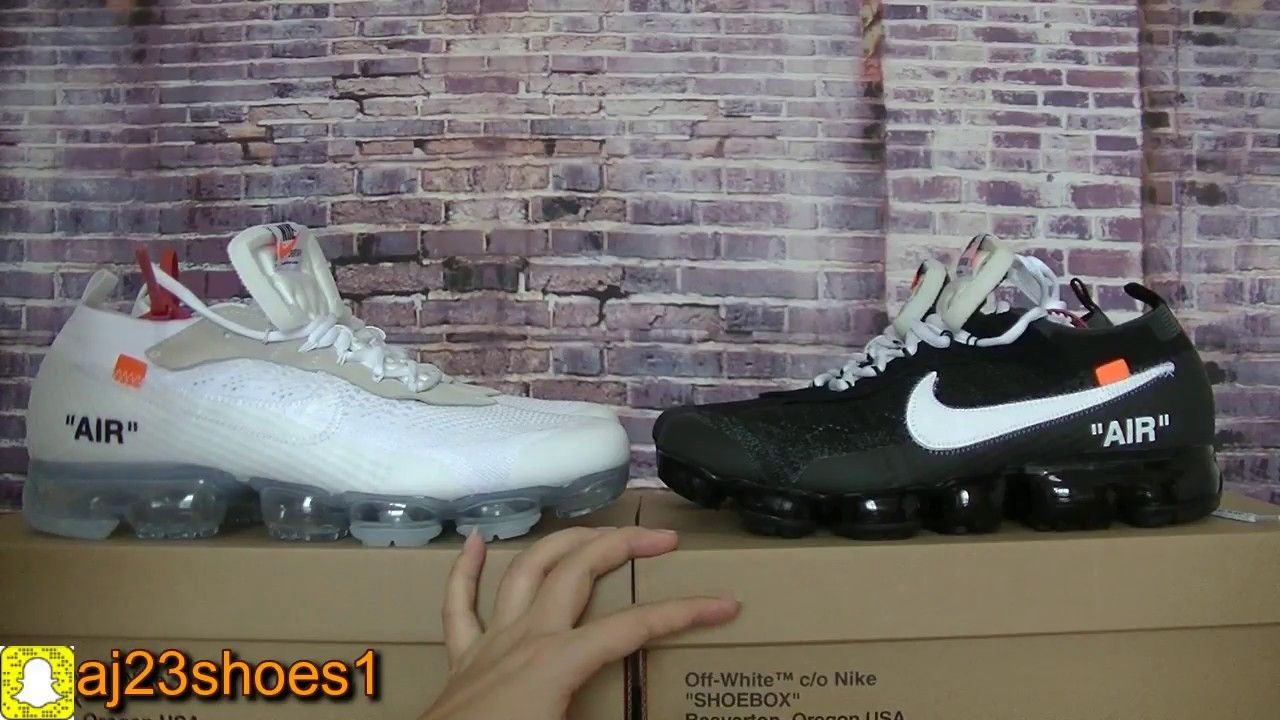 NIKE AIR VAPORMAX OFF-WHITE white and black comparision  6480330f2