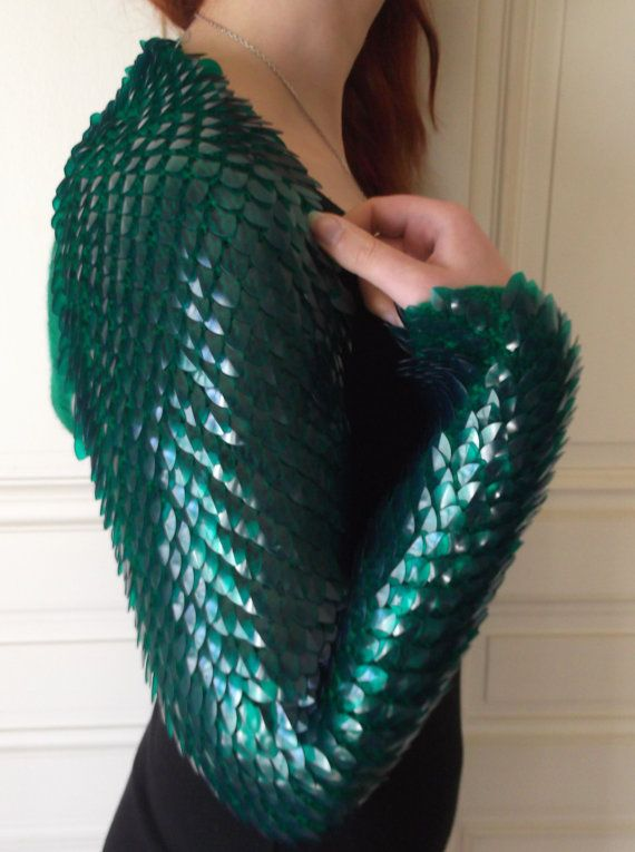 39cfaa1f3d Colored dragon scales shrug scale mail armor by Silmarilclothing ...