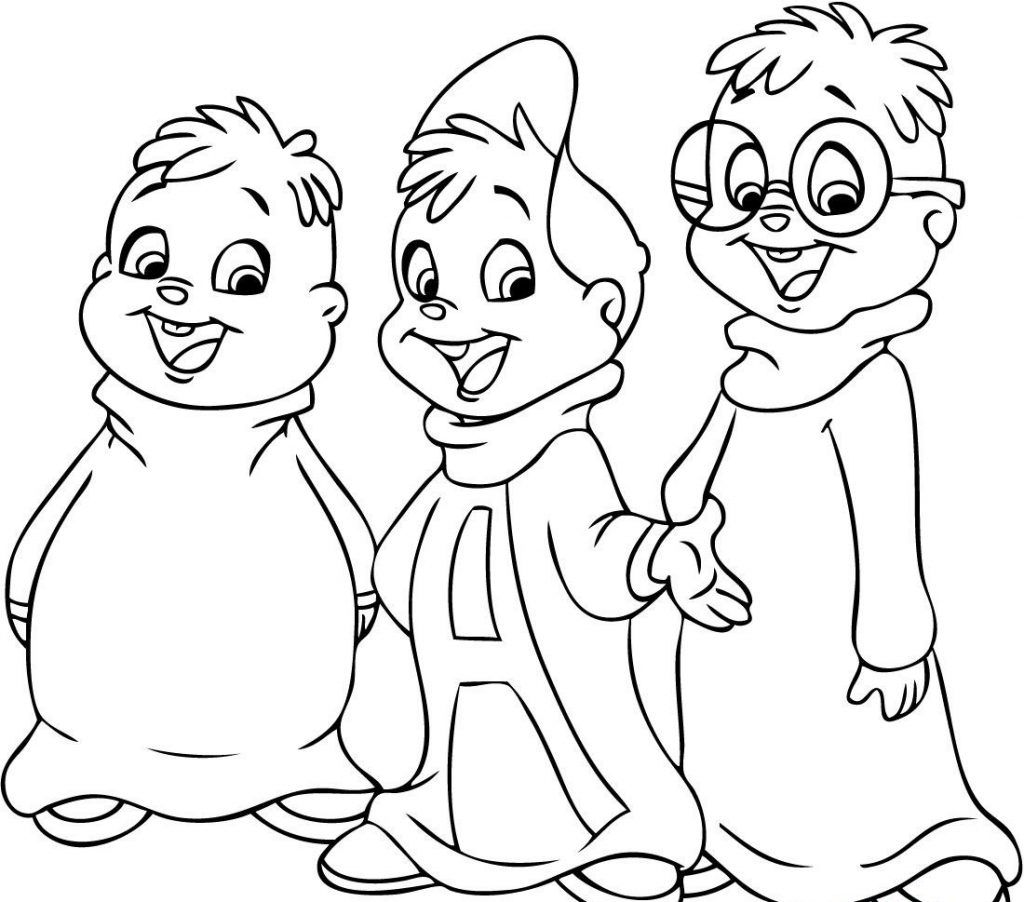 Free Printable Chipettes Coloring Pages For Kids | Chipmunks, Free ...