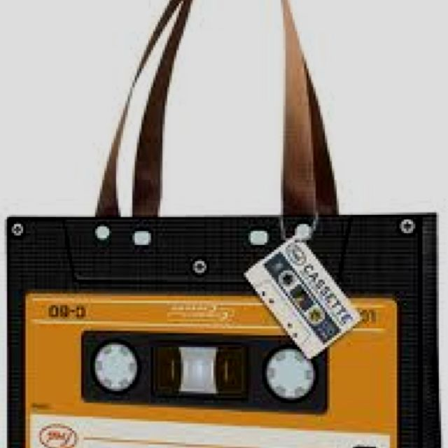 A tape cassette handbag.