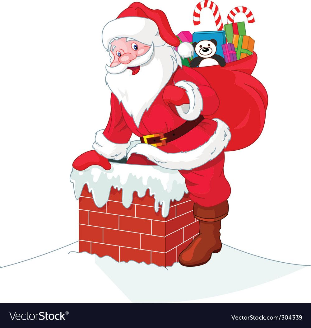 Santa Claus Vector Illustration In Public Domain Clipart Free Clip Art Images Vintage Santas Christmas Postcard Vintage Santa Claus