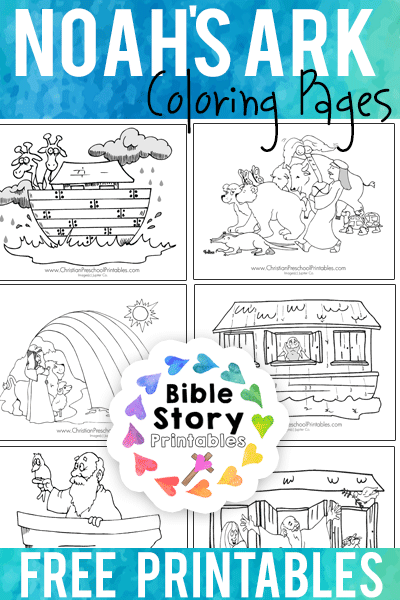 Free Noahs Ark Bible Coloring Pages From BibleStoryPrintables