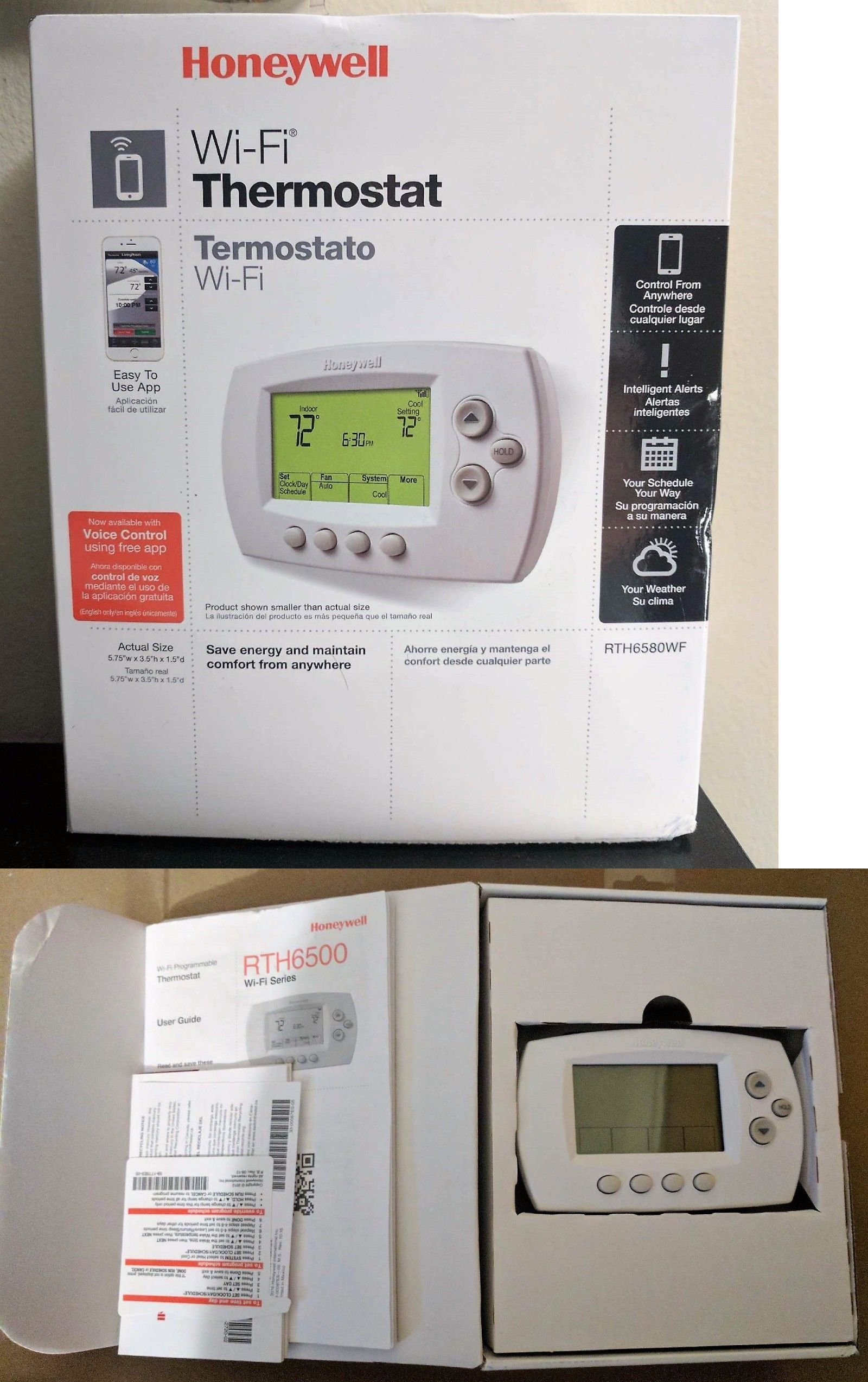 Programmable Thermostats 115949 Honeywell Rth6580wf Remote WiFi