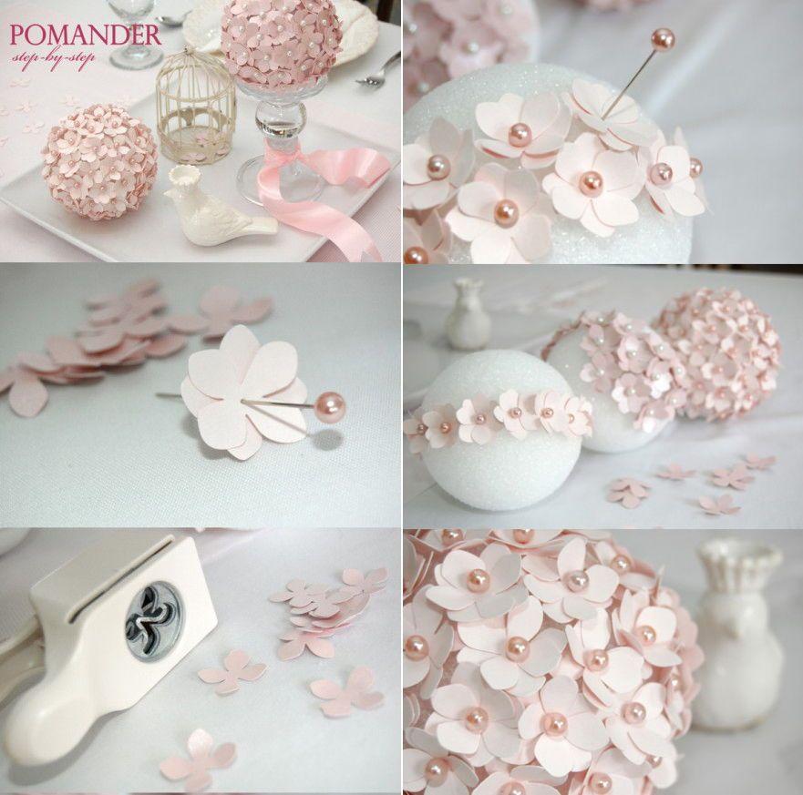 Paper Pomander Flower Ball NAVIDAD EN FAMILIA Pinterest Flower