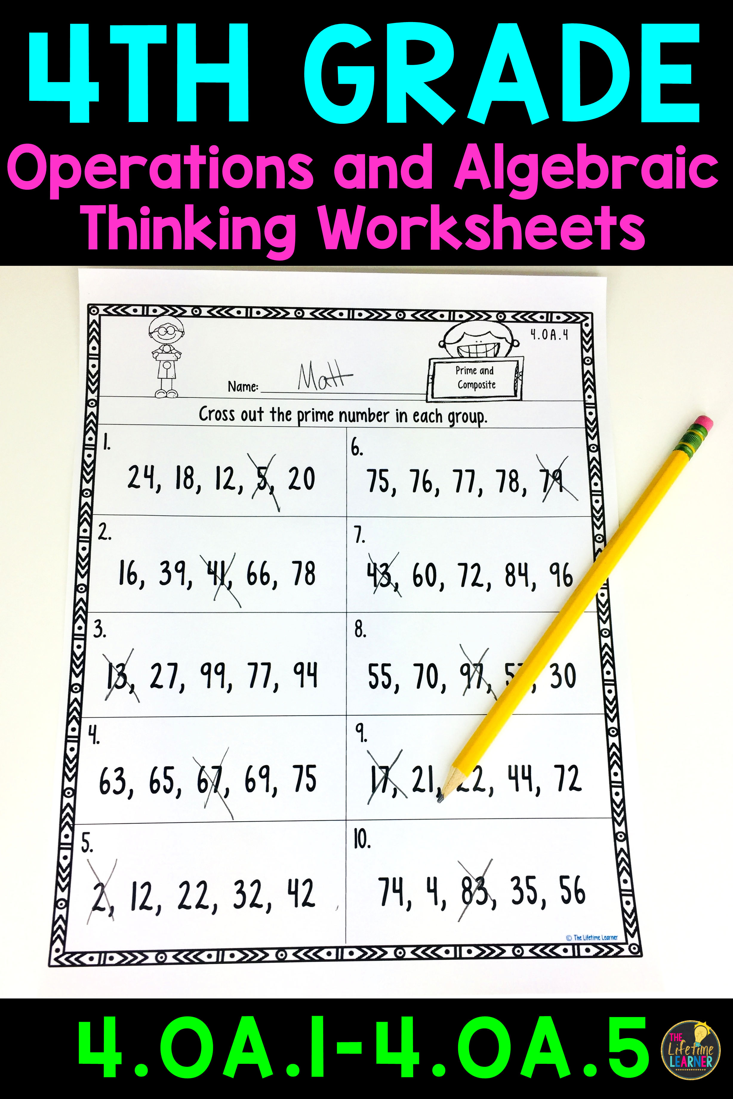 4th Grade Operations And Algebraic Thinking Worksheets Fourth