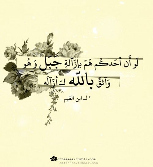 لو أن أحدكم هو بإزالة جبل وهو واثق بالله لأزاله ابن القيم If One Of You Makes It His Goal To Remove A Mountai Life Quotes Pictures Islam Facts Quran Quotes