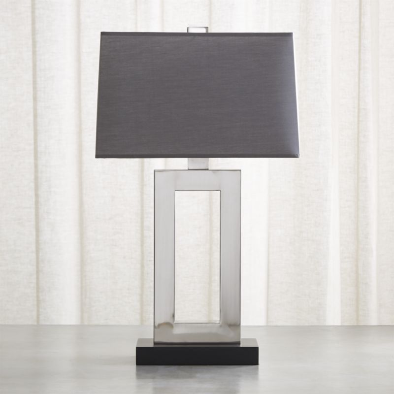 Shop Duncan Antiqued Silver Table Lamp Stylish And Geometric Our Jerry Table Lamp Features An Open Rectangular Base Lamp Silver Table Lamps Bronze Table Lamp