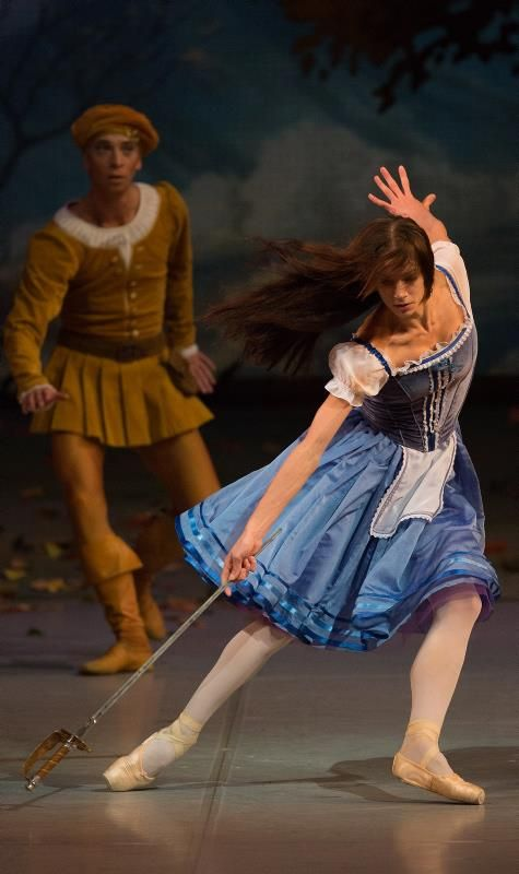 "Polina Semionova and Marcelo Gomes in ""Giselle"" at Mikhailovsky Theatre (Act I)"