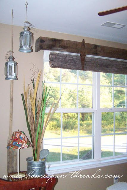 Barn Door Inspired Window Treatments Wood Valances For