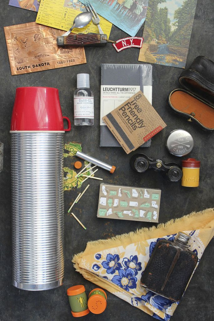 Curated collection of vintage + new adventure goods. Just add trees, a tent and a view for a lovely wanderlust's weekend! What an amazing gift for the bohemian adventurer! - Five vintage outdoors post