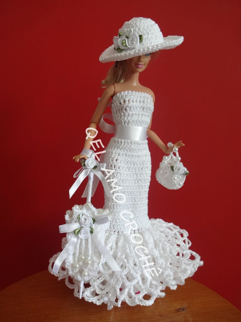 Barbie Crocheted dress | Dolls - Barbie | Pinterest | Puppenkleidung ...