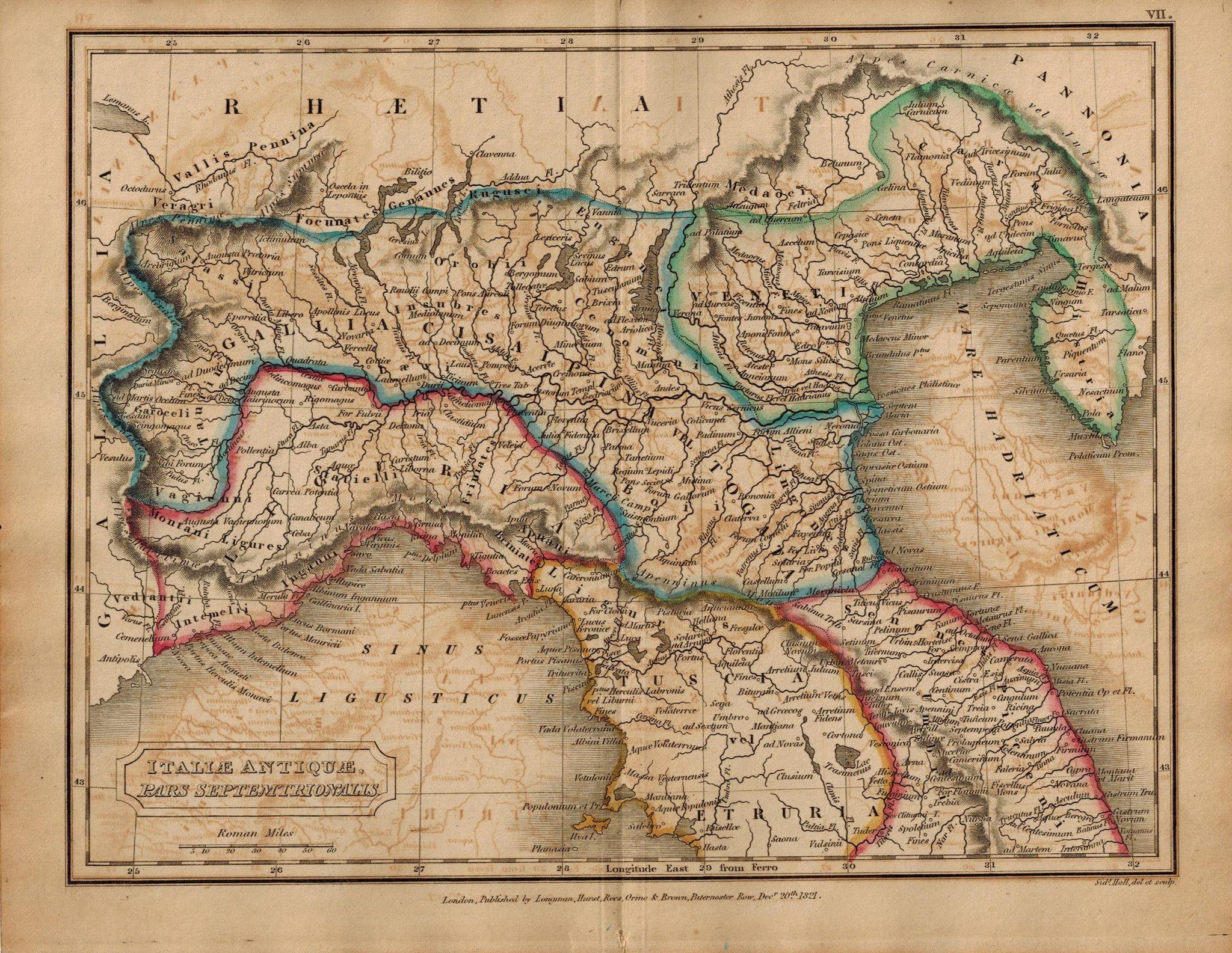 Italiae Antiquae Pars Septentrionalis