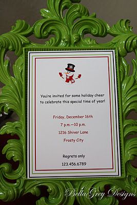 Hosting a Christmas party this year? Use our Shiver Christmas invitation to invite all your guests and get them in the Christmas spirit! BellaGrey Designs