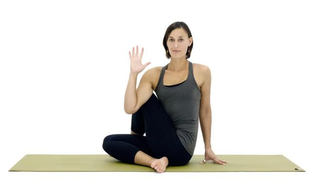 Unwind Your Spine With This Seated Twist Yoga Pose Seated Yoga Poses Sitting Yoga Poses Twist Yoga