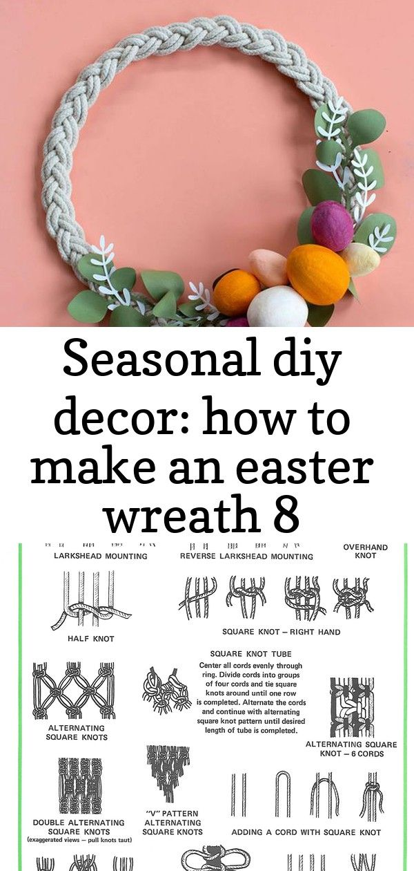 Seasonal diy decor how to make an easter wreath 8 Combining different materials can give your DIY project such great texture For the base of our Easter wreath we used our...