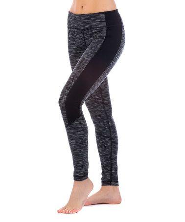Loving this Black Space-Dye Kik Leggings on #zulily! #zulilyfinds