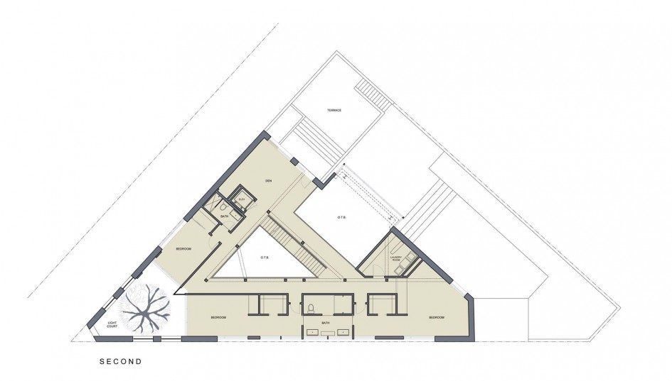 Triangular house floor plans 28 images the century on for Triangular house floor plans