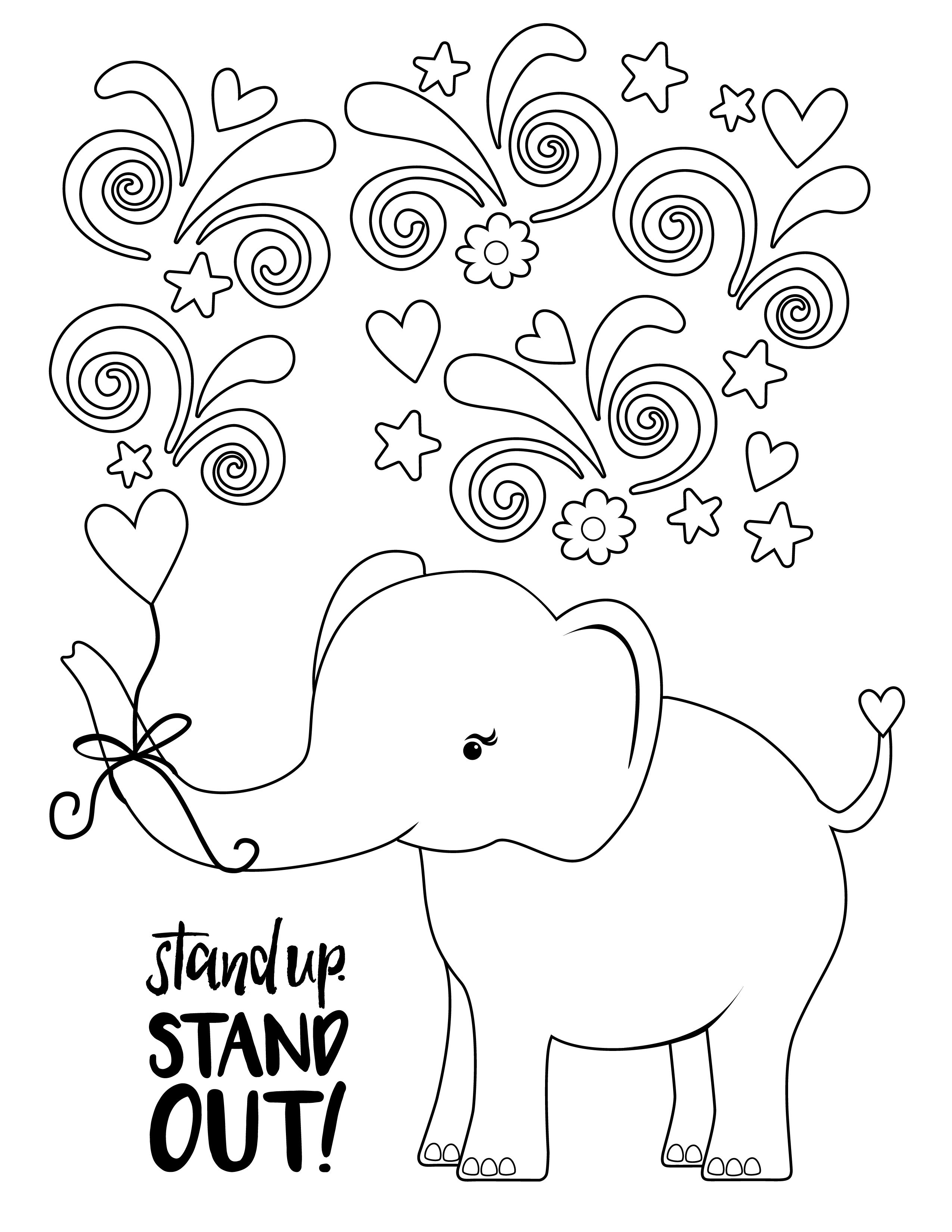 2018 Cookie Season Ella The Elephant Coloring Page Girl Scout