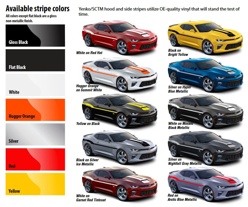 2017 Yenko Sc Edition Camaro Ss Color Options