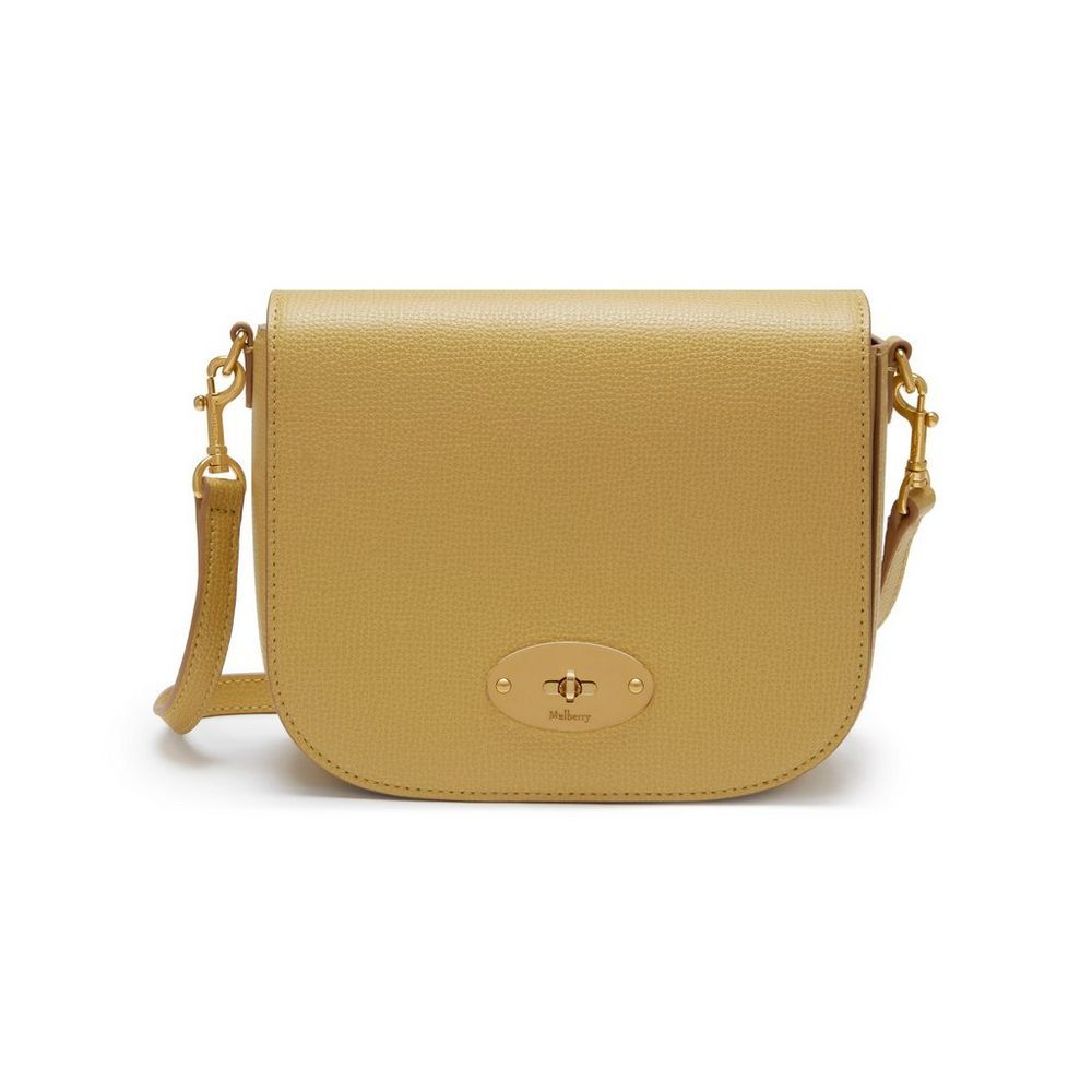 5c3bdc3c9db1 Shop the Small Darley Satchel Bag in Golden Yellow Cross Grain Leather at  Mulberry.com. The Small Darley Satchel has retro mini-bag appeal