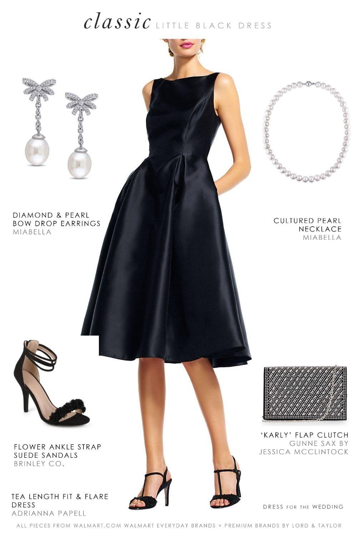 Winter Wedding Guest Outfits From Walmart Dress For The Wedding Black Tea Length Dress Black Wedding Dresses Walmart Dresses