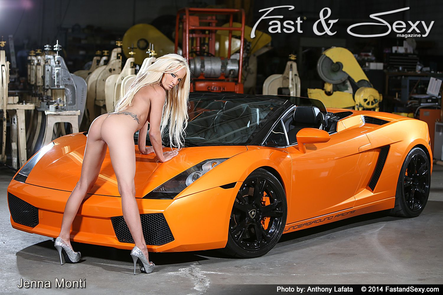 fast car with nude women