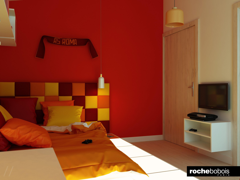 Poltrona Cameretta ~ Cameretta per un giovane #tifoso della #roma #casellari #luce e
