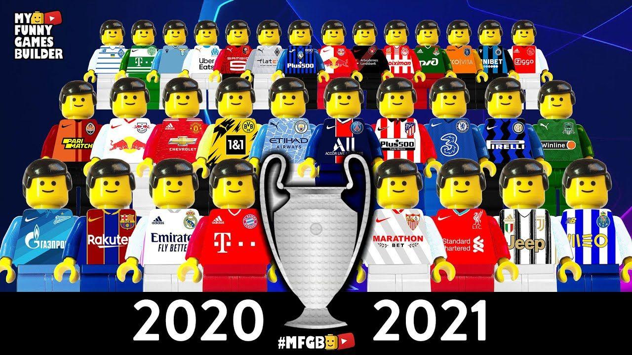 Champions League 2020 21 Group Stage Draw Season 2021 Preview In Lego Football Film Lego Football Champions League Olympique De Marseille