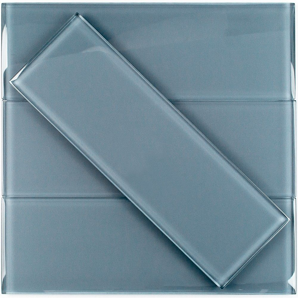 Loft Blue Gray 4x12 Polished Glass Tile | Pinterest | Gray polish ...
