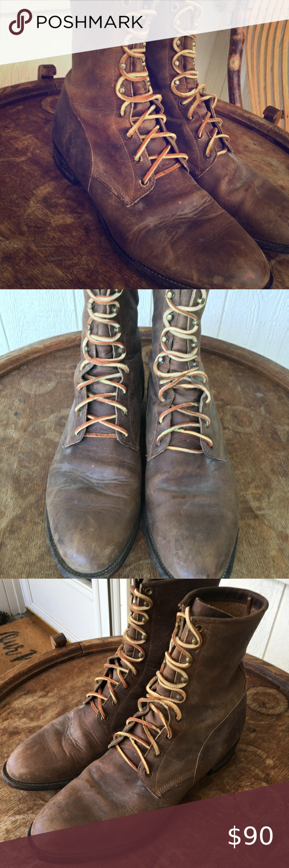 Justin Lace Up Boots size 12 D in 2020